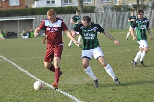 Zack McEniry on the ball during Little Common's 4-1 win at home to Pagham a fortnight ago. Picture by Simon Newstead