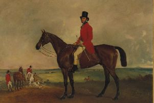 Portrait of Sir Francis Grant on Grindal , a collaboration by Melton artists John Ferneley and Sir Francis Grant dating back to 1851 and due to be auctioned with a guide price of between �30,000 and �50,000 EMN-190426-103450001