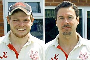 Myles Hickman (left) and James Pepperdine dismantled the Countesthorpe innings EMN-190705-160123002