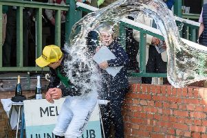 Dale Peters gets an early bath after bringing up 100 career wins. Picture: Nico Morgan Media EMN-190515-171636002