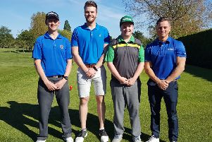 Melton's County Foursomes team, from left, Craig Hallam, George Boddy, David Poolan, Sam Pollard EMN-190521-092028002