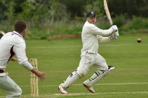 Adam Clarke on his way to what proved a match-winning half-century EMN-190521-111412002