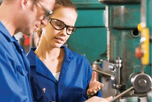 The number of people opting for apprenticeships is falling.