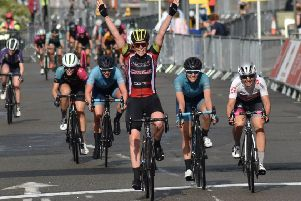 Emily Nelson was shocked at her victory in the fourth Women's CiCLE Classic on Sunday EMN-191006-083135002