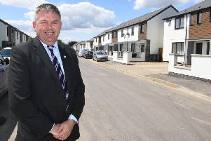 Coun Richard Wright on the refurbished Newfield Road.