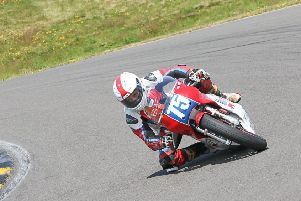 Melton motorcycle racer Ant Hart recovered well after his Anglesey crash. Picture: Peter Morris EMN-190716-183612002