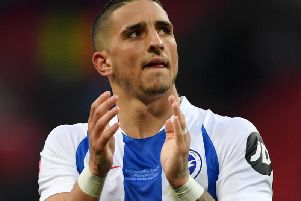 Anthony Knockaert has thanked Brighton fans for their support. Picture courtesy of Mike Hewitt/Getty Images.