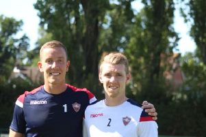 Goalkeeper Hannes Halldorssom left and right back Birkir Saevarsson.