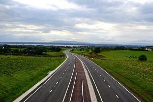 A new section of the A6 which is due to open on Monday, August 5.