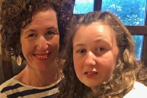 Fifteen year-old Nora pictured with her mother, Meabh, who is originally from Belfast. (Photo issued by family).