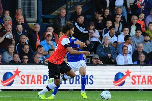Izzy Brown skips away from a challenge last night
