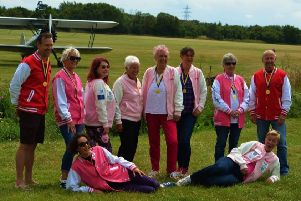Team Sakala, Mark Newman, Lindsey Kirby, Sara Guiel, Diane Holmes, Helen Hitchcock, Sarah Hand, Ros Bartlett, Tony Cottee, Debbie West and Nicky Chisholm