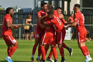 Town celebrate Leon Fray's opener EMN-190824-193339002