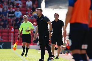 Graeme Jones dishes out some instructions at Barnsley on Saturday