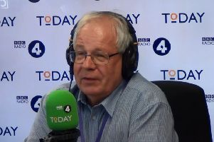Matthew O'Callaghan, chairman of the Melton Mowbray Pork Pie Association, pictured speaking on Radio 4's Today programme following incorrect remarks made about exports of the pies by Prime Minister Boris Johnson EMN-190827-115515001