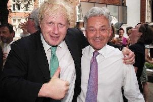 Melton MP Sir Alan Duncan (right) pictured with Boris Johnson before he became Prime Minister EMN-190827-163703001