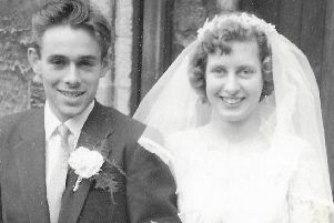 Ron and Judy Grove on their wedding day at St Mary's Church, Melton, in 1959 EMN-190309-104229001