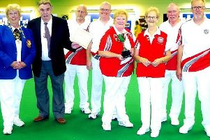 Melton Bowls Club celebrate their national Fantastic Fives win in 2015 EMN-191009-124809002
