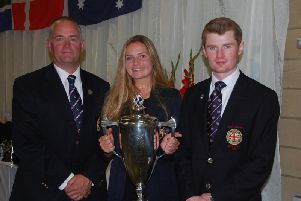 Fittleworth's Nick Mullins, Sara Carr and Rob Dowling with the City of London Corporation Cup