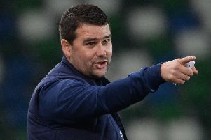 Linfield boss David Healy. Pic by Pacemaker.