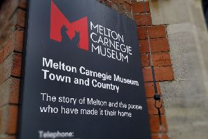 The sign at the entrance to Melton Carnegie Museum, on Thorpe End EMN-191024-125336001