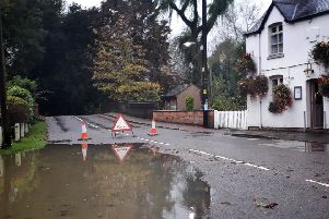 Flooding at Whissendine close to the White Lion pub EMN-191029-094214001