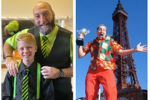 Left: D&J Magic. Right:Magic Dave won the UK Family Entertainer of the Year competition in Blackpool back in 2004