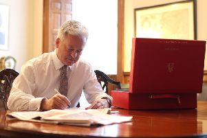 Sir Alan Duncan at work at the Foreign Office EMN-190511-173759001