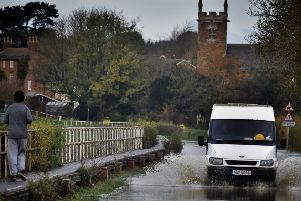 Flooding in Thrussington following the latest heavy rain EMN-191115-150205001