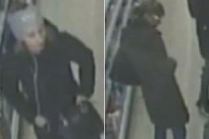 Police want to speak to these two women in these CCTV images following the theft of a handbag belonging to an elderly woman in a Melton store EMN-190212-115253001