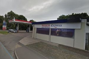 The Tesco Express supermarket and garage in Nottingham Road, Melton, which is closing until the end of next month for refurbishment EMN-200701-155521001