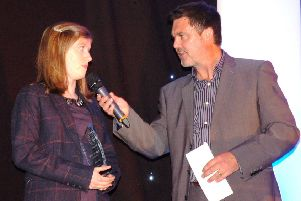 Ivan Gaskell interviews Paralympic champion Sophie Hahn at our sports awards in 2016 EMN-200801-131021002