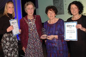 Sue Bailey was the first winner of our Community Sport Award last year, do you know who could be our second? Sue is pictured with Mayor of Melton Pru Chandler, representing sponsors Melton Borough Council, and finalists Clare Marlow (left) and Jenny Beech EMN-200901-170610002