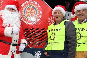 Rotary members with Santa PHOTO: Supplied
