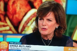 The Duchess of Rutland, Emma Rutland, appearing on Good Morning Britain to debate plans for a new McDonald's restaurant in Rutland EMN-200114-102914001