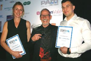 Our Sports Personality of the Year for 2018 was Mick Stevens, pictured with finalists Natalie Teece and Stan Stannard EMN-200502-155656002
