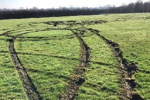 The significant damage caused to pitches at Melton Rugby Club by vandals EMN-201002-134027001