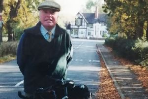 The late David Bambridge with the trusty bicycle he rode around the Melton borough and to places as far afield as Skegness and Newark EMN-200225-132352001