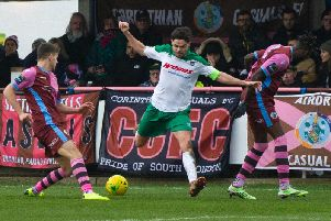 Harvey Whyte is set to lead Bognor into battle at home to Tonbridge on Saturday / Picture by Tommy McMillan