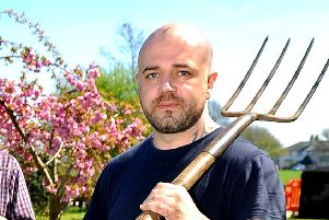 Damien Enticott, pictured here at a political event about gardening, has been spared jail