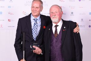 Stuart Rodgers (left) with coach and mentor Rick Smith at the 2017 Lincolnshire Sports Awards EMN-190802-162206002