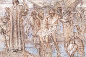 Frank Brangwyn - St Paul Shipwrecked, Christ's Hospital cartoon SUS-191102-104936001