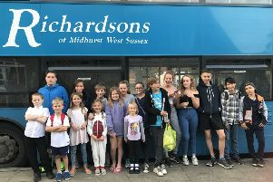 Richardson's Travel supported Midhurst and district swimming club. Sept 2017.