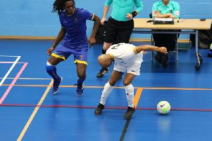The Uni of Chi futsal team in recent action / Picture by Jordan Colborne