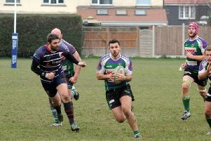Bognor in recent action against Sandown and Shanklin / Picture by Kate Shemilt