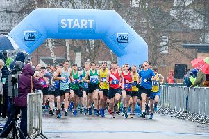 The start line at the Warwick Half Marathon 2019. Photo by Mike Baker.