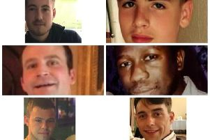 Pictured here are six Northamptonshire men who were stabbed to death since January 2018.