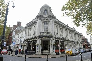 The Isambard Kingdom Brunel public house in Guildhall Walk. Picture: Ian Hargreaves (171243-1)