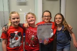 Four Upper Beeding Primary School pupils organised a Dance-A-Thon during their lunch hour on Red Nose Day