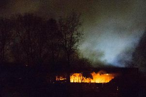The fire at the tip near Chichester last night